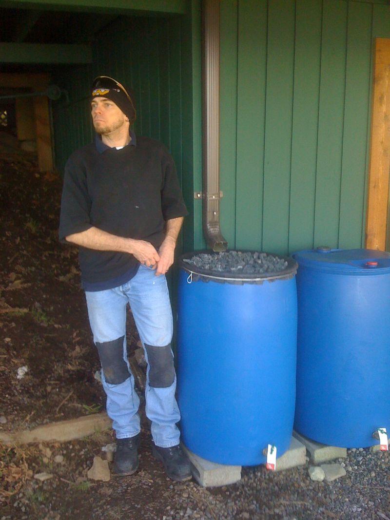 Lummi Garden: Rain Barrels